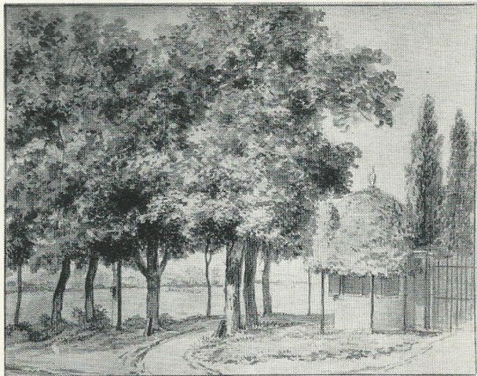 Nabij 'de Geleerde Man' , aquarel door Jurriaan Andriessen, circa 1800
