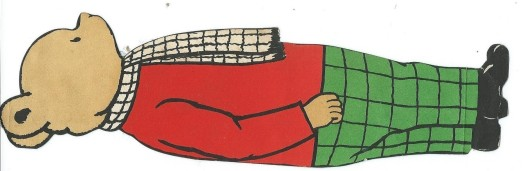 Illustratiezijde van: 'Bruintje's Gedachten gaan uit naar de uitgaven van het Algemeen Handelsblad'