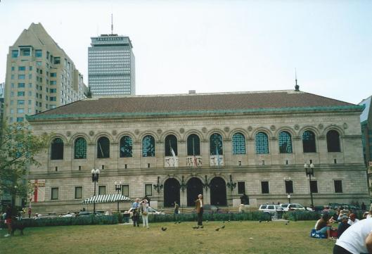 Hans Krol voor de openbare hoofdbibliotheek van Boston