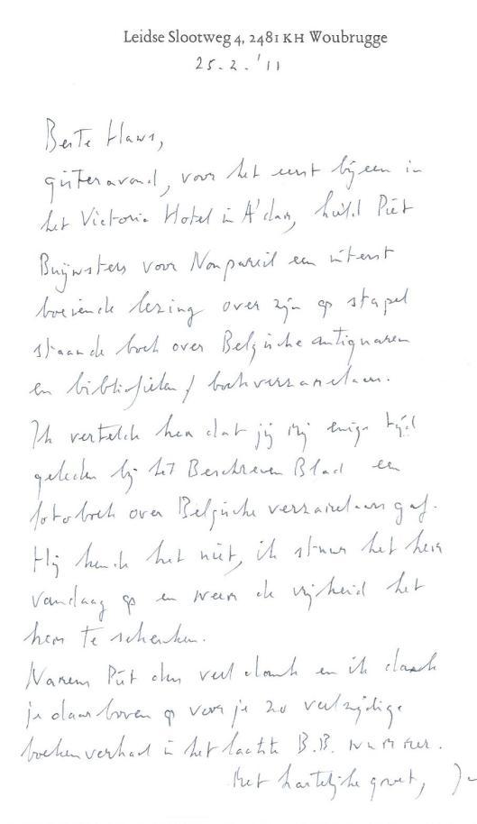 Handschrift van Jan Keijser