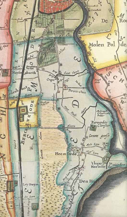 Heemstede op de kaart van landmeter Melchior Bolstra 1687/1746