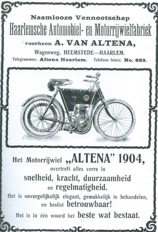 Advertentie van 'Altena' uit 1904