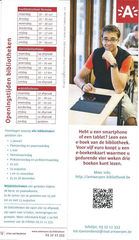 Bladwijzer van de openbare bibliotheken in Antwerpen