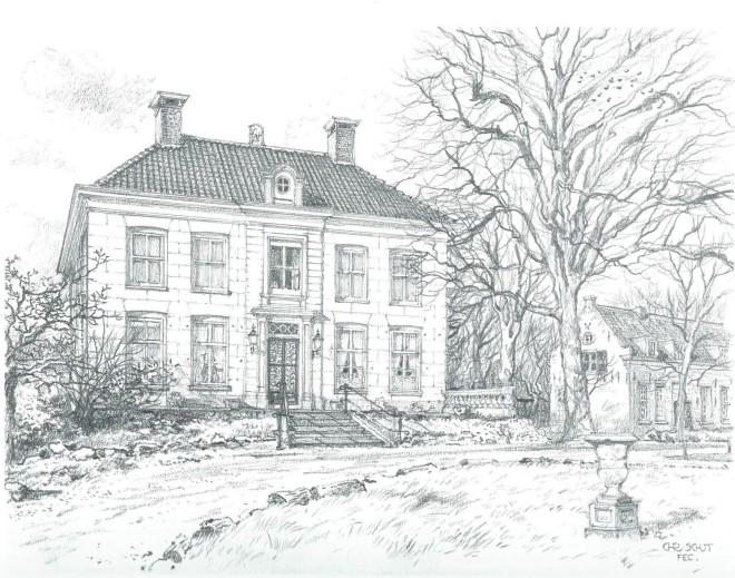 Ipenrode in Heemstede; door Chris Schut, 1990 [Uit: Gezichten in Zuid-Kennemerland. Alphen aan den Rijn, Canaletto, 1991]