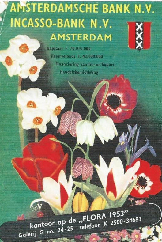 Achteromslag van Flora-catalogus 1953