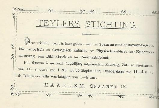 Teylers Stichting Haarlem