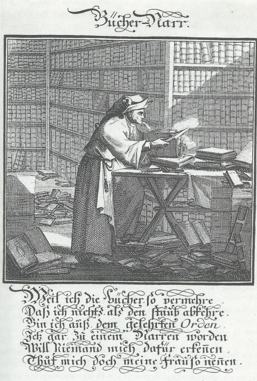 Boekennar. Gravure van Johann Christoph Weigel uit 1710.