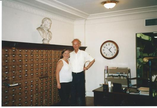 Hans en Yvonne Krol in de Mercantile Library van New York