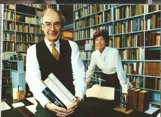 De bibliotheek van Ludo en Leentje Simons. Ludo erfde duizenden boeken van