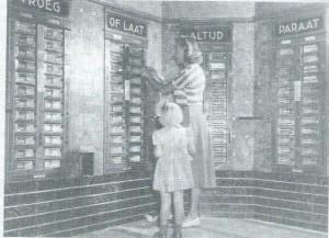 Automatiek van Tummers, Binnenweg, omstreeks 1950