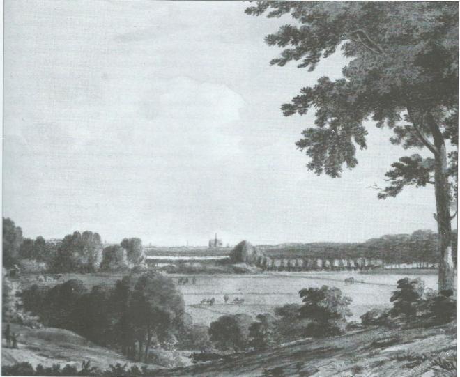 Het weidse uitzicht rond Boekenrode in 1795, door Hendrik Numan.