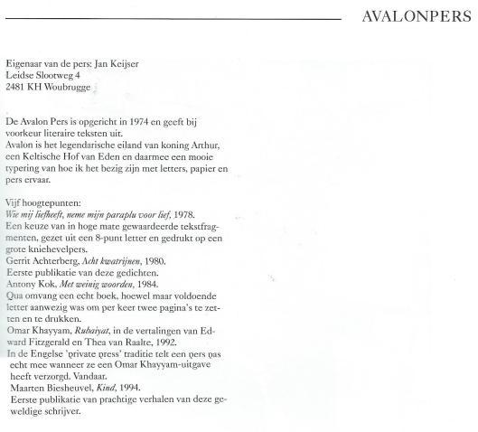 Jan Keiser. Uit: Pastei & hoerenjong; 30 drukkers in de marge. 1995.