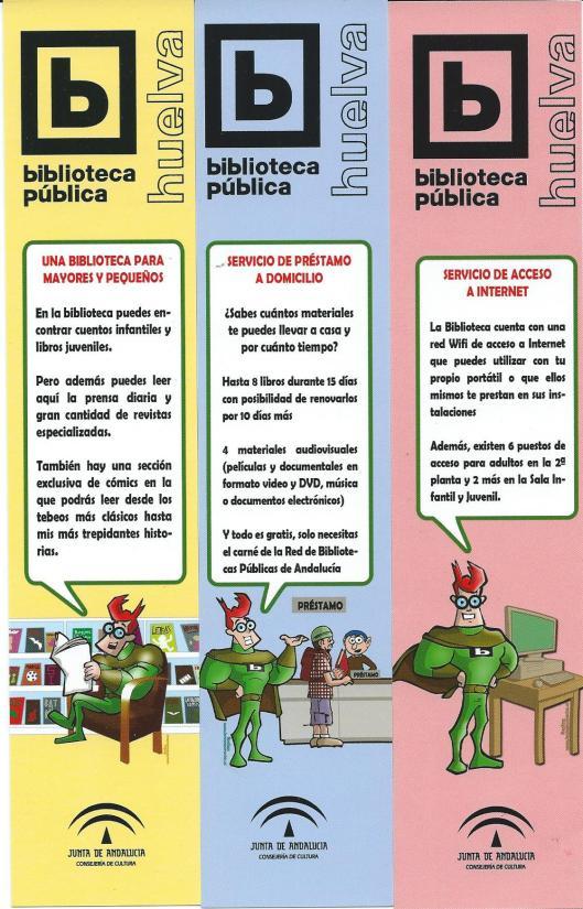 Boelkenleggers: Bopenbare bibliotheek Huelva, Spanje