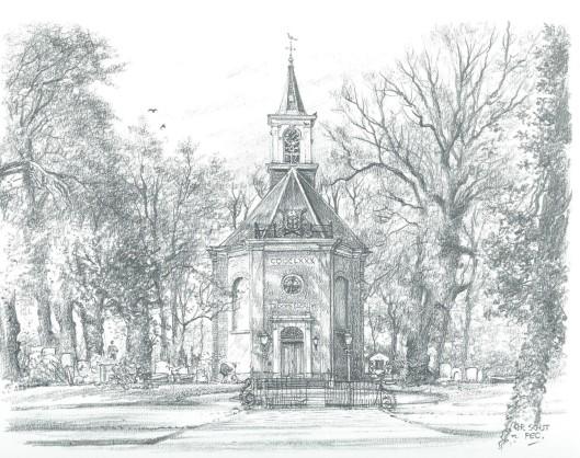 De Hervormde Kerk te Bennebroek, door Chris Schut, 1990