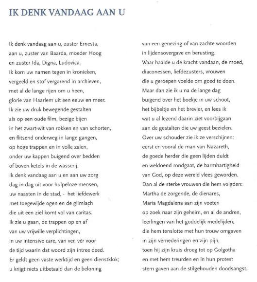 'Ik denk vandaag aan U' door Michel van der Plas