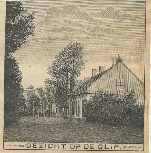 Gezicht op de Glip. Uit Zondagsblad, 1910