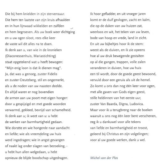 Vervolg van gedicht 'Ik denk vandaag aan U' door Michel van der Plas