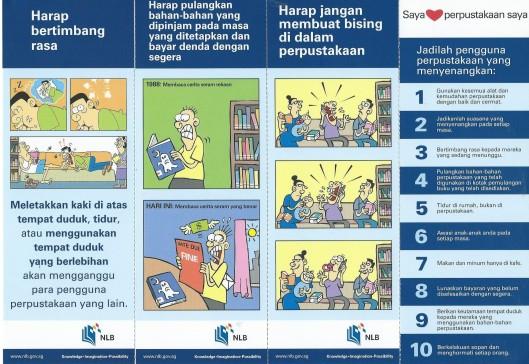 4 doorlopende bladwijzers van National Library Board, Singapore