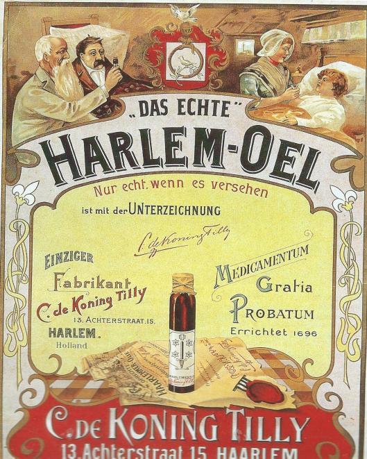 Duitse reclame voor Haarlem-Oel van C.de Koning Tilly uit circa 1930