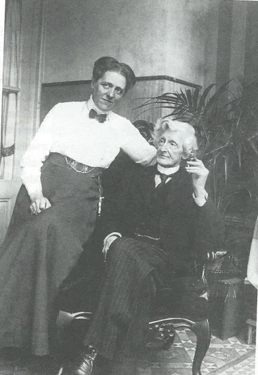 H.F.Waller met zijn echtgenote in 1895