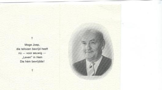 Voorzijde bidprentje Joep Henneboel (1990)