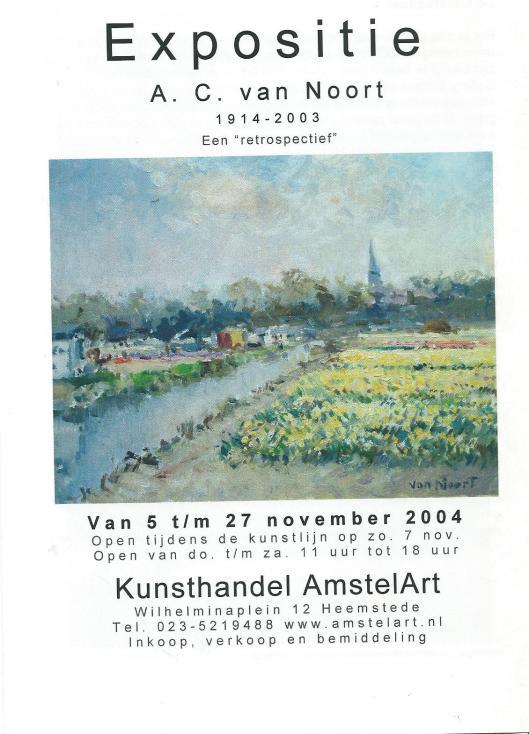 Achteromslag A.C.van Noort 1914-2003; een retospectief (AmstelArt Heemstede)