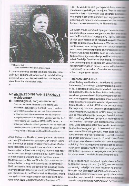 Anna Teding van Berkhout. Uit: Vrouwen uit de Nederlandse geschiedenis, samengesteld door Els Kloek. Uitgeverij Van Tilt, 2013, pagina 1038