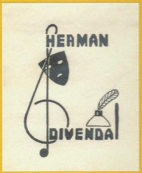 Ex libris van Herman Divendal (1914-1992) door Arnold Pijpers