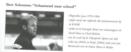 Bart Schouten, coach schaatsen