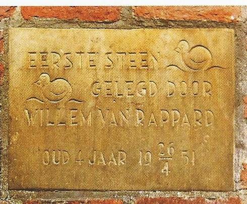 Op 26 april 1951 is door de 4-jarige zoon van de toenmalige burgemeester, Willem van Rappard de eerste steen gelegd voor de stal van de kinderboerderij in Groenendaal