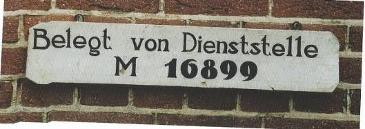 Door de Duitse bezetters aangebracht bordje bij de ingang van seminarie Hageveld