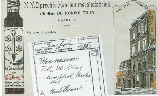 In 1696 begon Claes Tilly in de Antoniestraat een bedrijfje waar 'Haarlemmerolie' werd vervaardigd, een wondermiddel tegen allerlei kwalen
