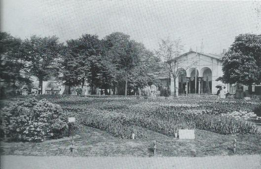 Foto van de int. bloembollententoonstelling in de Haarlemmerhout, 1910