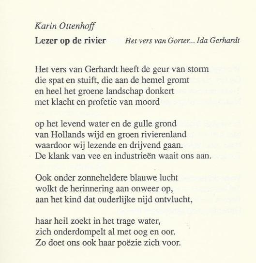 Karin Ottenhoff, Lezer op de rivier.