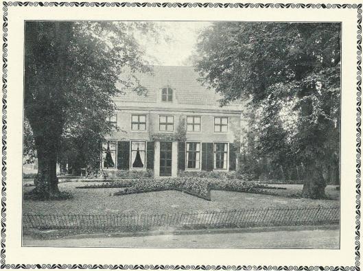 Huis te Bijweg in Bennebroek op een foto uit 1917