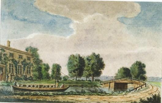 De Engelse schrijver en tekenaar bezocht in 1789 ons land. Hij tekende 'Halfway House' ofwel Halfweg tussen Leiden Haarlem