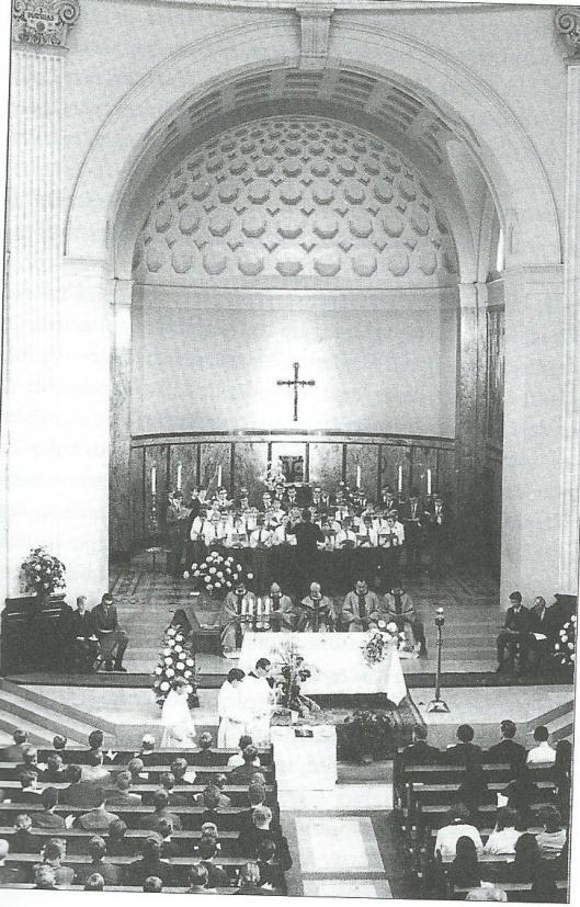 Heilige Mis in de Kapel van Hageveld bij het 150-jarig bestaan in 1967