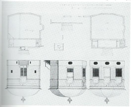 In 1801 ontving de Amsterdamse architect Abraham van der Hart van Maria Hoofman de opdracht een koepel voor haar buitenplaats aan het Spaarnne te bouwen. Hiervoor moest het buitentje Overlaan gesloopt worden. Bovenstaande tekening van Zoutendijk toont het resultaat. De koepel staat nu even ten noorden van de Heythuizenweg.