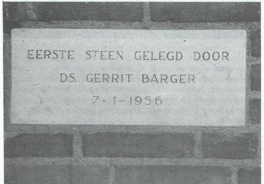 Op 7 januari 1956 werd door dominee G.A.Barger de eerste steen gelegd voor de Bargerschool aan de Koediefslaan. De opening volgde in 1956. Na de heer W.A.Schouten is de heer J.Hulsbos in 1961 benoemd tot hoofd van de school, in 1981 opgevolgd door de heer E.Wolters.