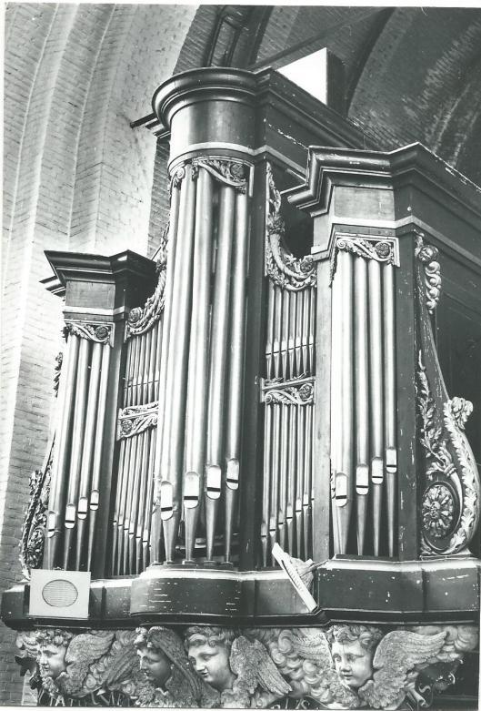Orgel St.Bavokerk Heemstede. Tussen 1833 en 1854 gebouwd door L.v.d.Brink en Zoon.