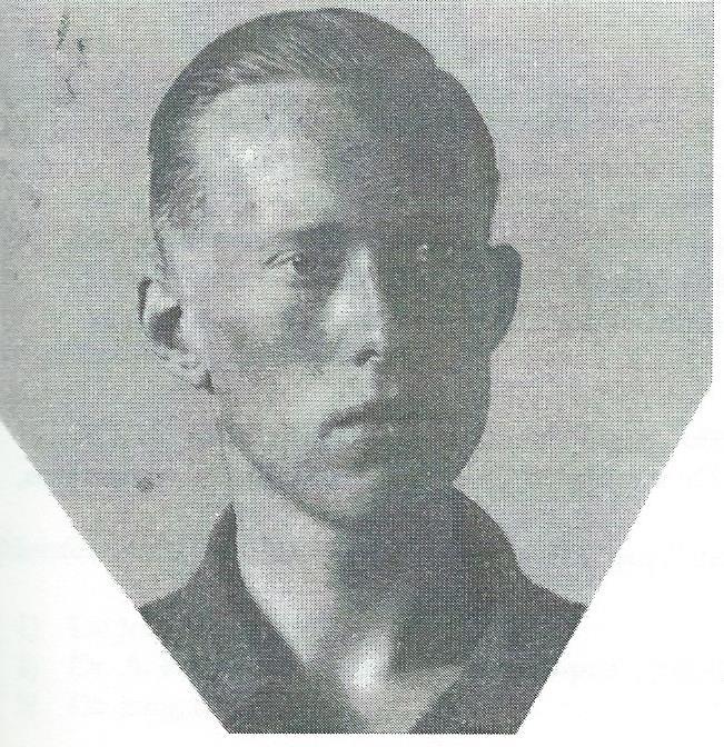 De laatst bekende opname van Jan Oom, een pasfoto uit 1940.
