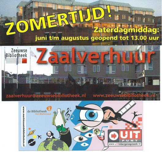 Boven en midden: Zeeuwse Bibliotheek Middelburg; onder: openbare bibliotheek Bergen Op Zoom