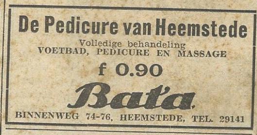 Advertentie Bata, Binnenweg 74-76, uit 1939