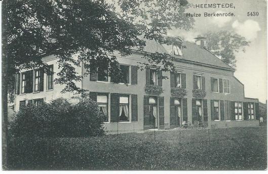 Oude prentbriefkaart van huize Berkenrode