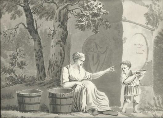Pentekening door J.P.A.van Wickevoort Crommelin, 1815