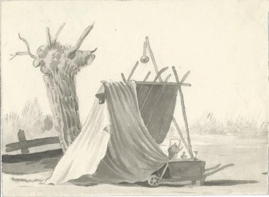 Pentekening J.P.A.van Wickevoort Crommelin, 1815