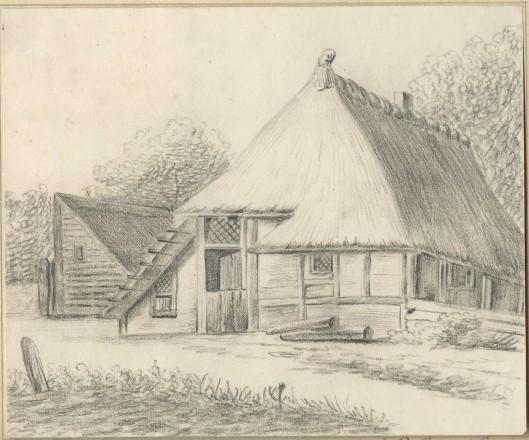 Pentekening van J.P.van Wickevoort Crommelin uit 1839