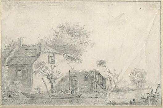 Tekening van J.P.van Wickevoort Crommelin, 10 april 1843