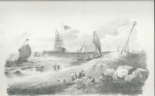 Litho van J.P.van Wickevoort Crommelin uit 1845