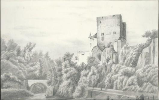 Tekening van J.P.van Wickevoort Crommelin (arcadisch gezicht Duitsland), 16 juni 1846
